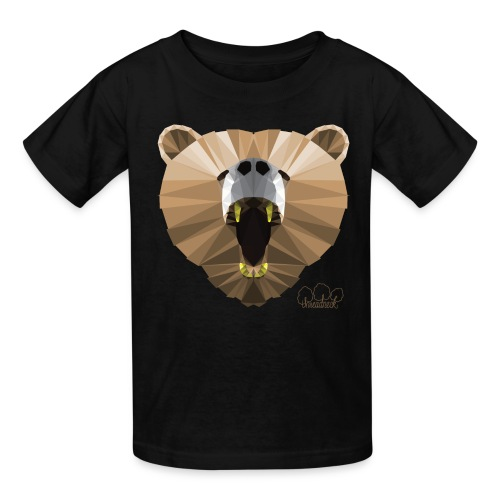 Hungry Bear Women's V-Neck T-Shirt - Kids' T-Shirt