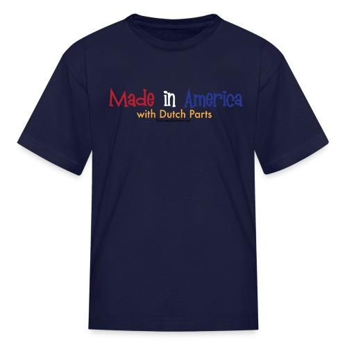 Dutch Parts colored lettering - Kids' T-Shirt