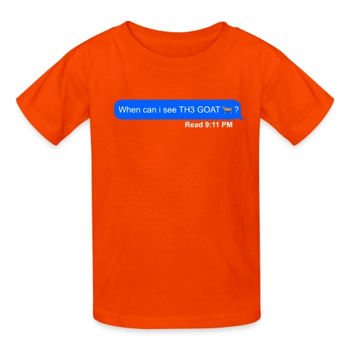 when can i see th3 goat - Kids' T-Shirt