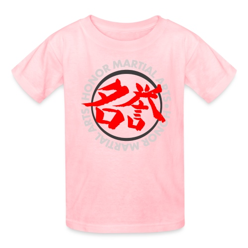 Honor Martial Arts Kanji Design Light Shirts - Kids' T-Shirt