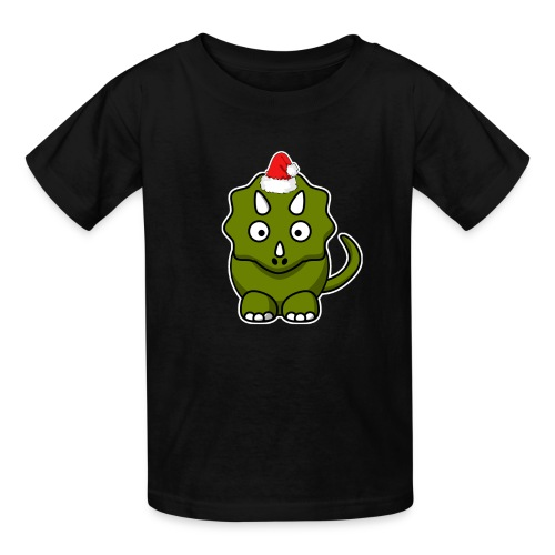 Happy Holidays Triceratops - Kids' T-Shirt