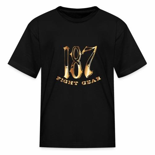 187 Fight Gear Gold Logo Sports Gear - Kids' T-Shirt