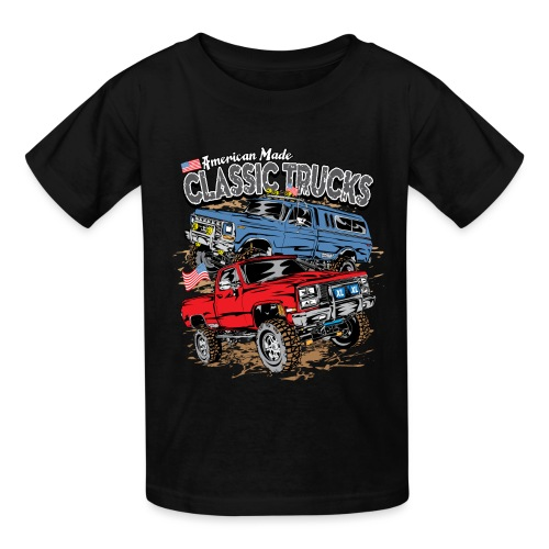 American Made Classic Trucks - Kids' T-Shirt