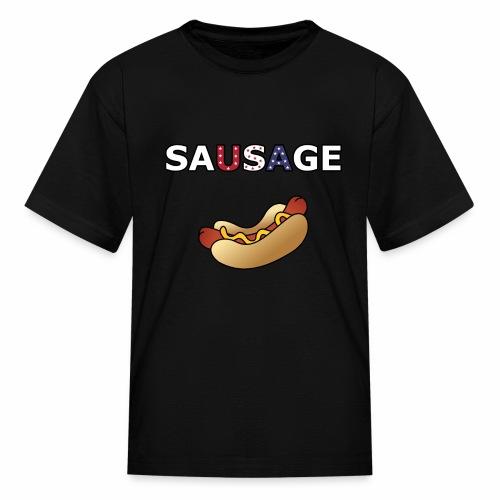 Patriotic BBQ Sausage - Kids' T-Shirt