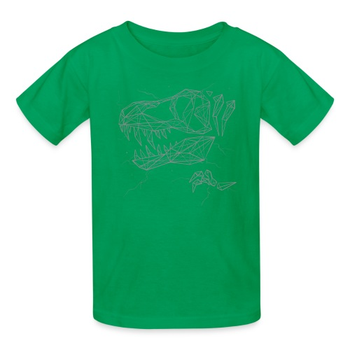 Jurassic Polygons by Beanie Draws - Kids' T-Shirt