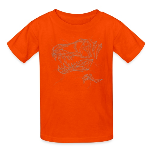 Jurassic Polygons by Beanie Draws - Kids' T-Shirt