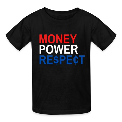 Money Power Respect (Red, White & Blue with $ & ¢) - Kids' T-Shirt