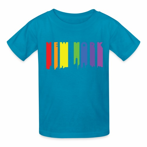 New York design Rainbow - Kids' T-Shirt
