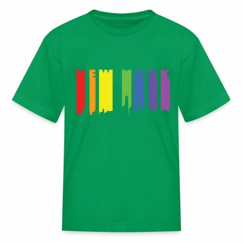 New York design Rainbow - Kids' T-Shirt