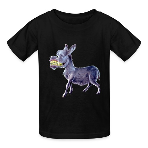 Funny Keep Smiling Donkey - Kids' T-Shirt
