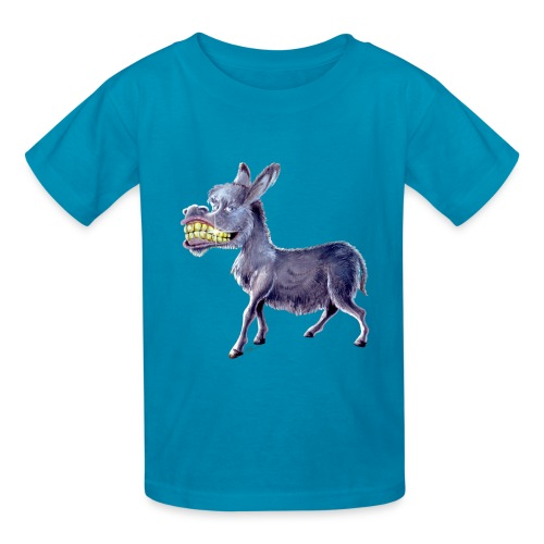 Funny Keep Smiling Donkey - Kids' T-Shirt