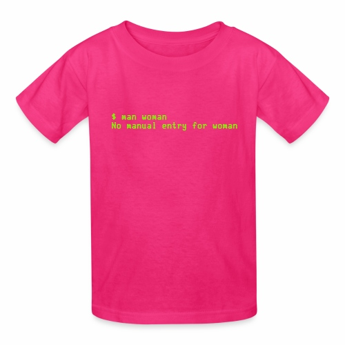 man woman. No manual entry for woman - Kids' T-Shirt