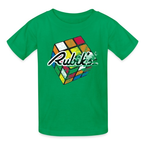 Rubik's Cube Distressed and Faded - Kids' T-Shirt