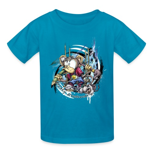the graphic monkey - Kids' T-Shirt