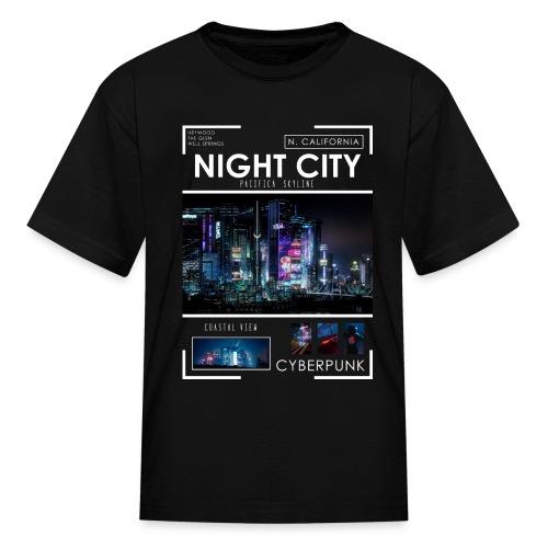 Night City Pacifica Skyline - Kids' T-Shirt