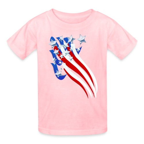 Sweeping Old Glory - Kids' T-Shirt