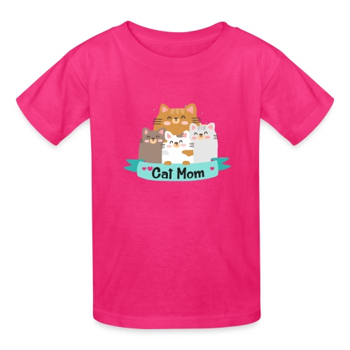 Cat MOM, Cat Mother, Cat Mum, Mother's Day - Kids' T-Shirt