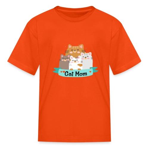 Cat MOM, Cat Mother, Cat Mum, Mother's Day - Kids' T-Shirt