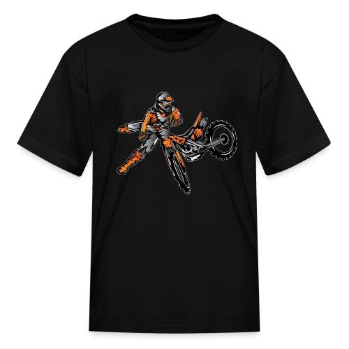 Orange Freestyle Motocross Rider - Kids' T-Shirt