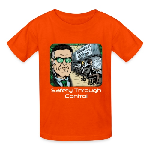 Safety Through Control png - Kids' T-Shirt