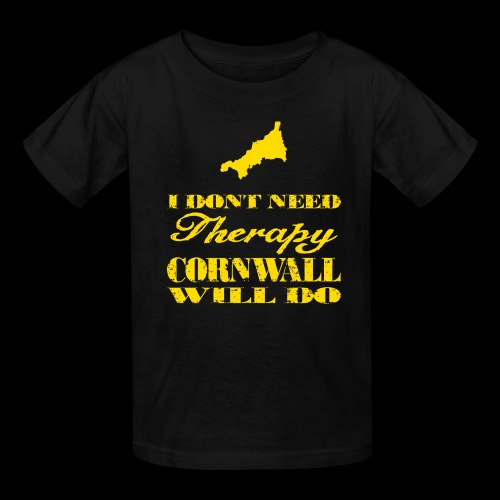 Don't need therapy/Cornwall - Kids' T-Shirt