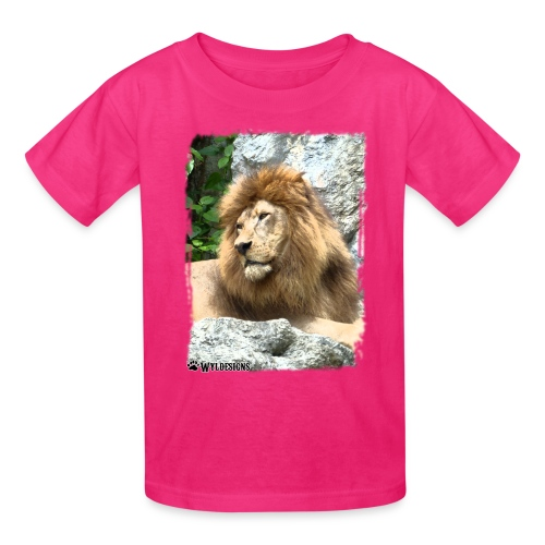 Lion On Rocks - Kids' T-Shirt