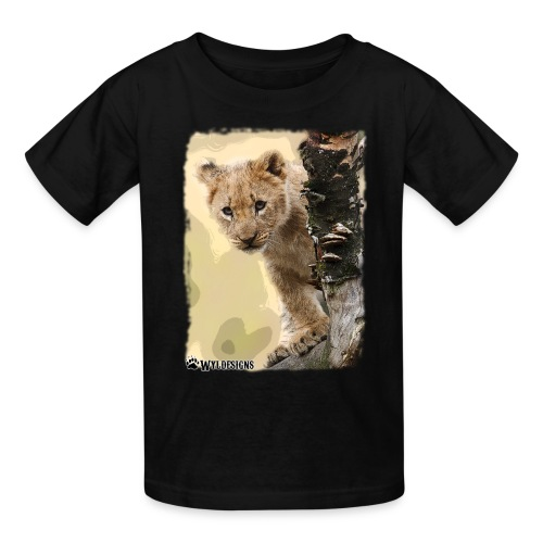 Lion Cub Peeking - Kids' T-Shirt