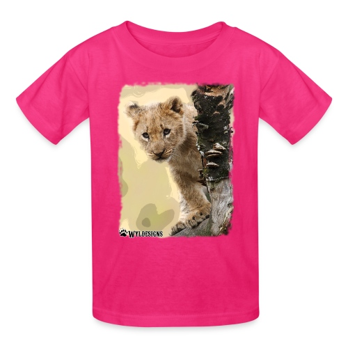 Lion Cub Peeking - Kids' T-Shirt