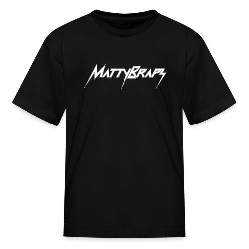 mattybrapslogo white - Kids' T-Shirt