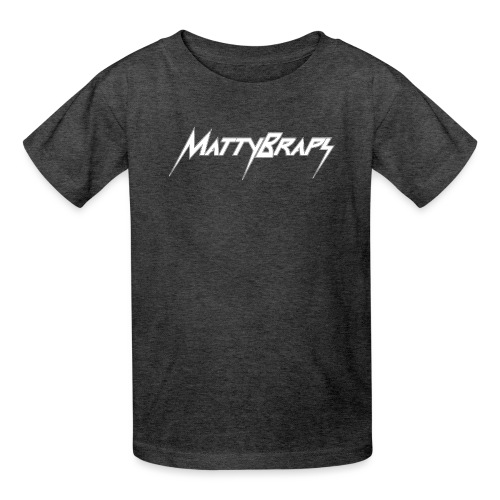 mattybrapslogo white - Kids' T-Shirt