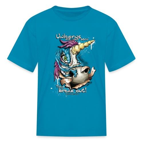 unicorn breakout - Kids' T-Shirt