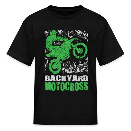 Motocross Backyard Green - Kids' T-Shirt