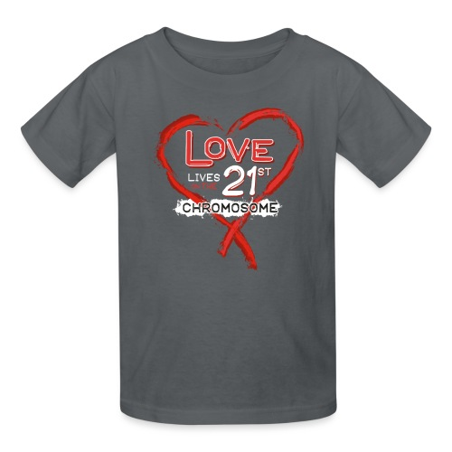 Down Syndrome Love (Red/White) - Kids' T-Shirt