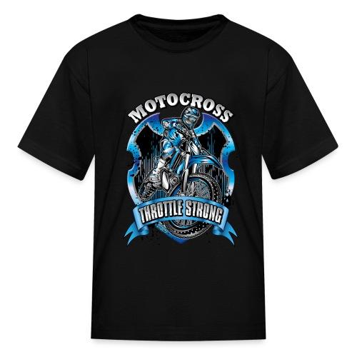 Motocross Throttle Strong - Kids' T-Shirt