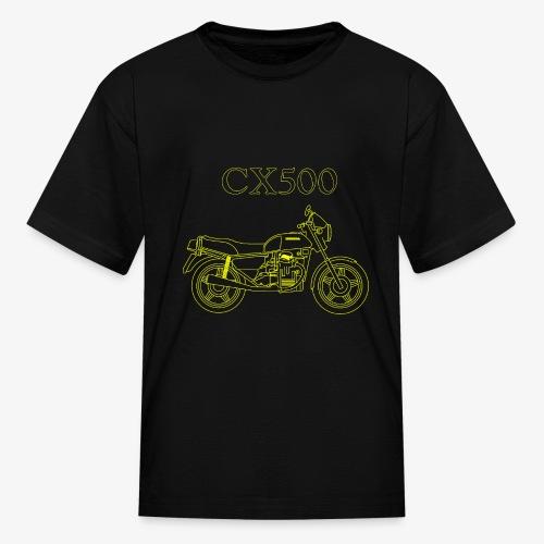 CX500 line drawing - Kids' T-Shirt