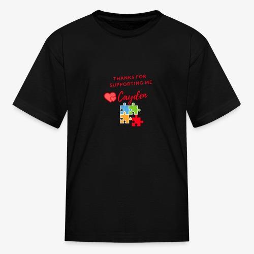 Cayden Autism Awareness Thank You - Kids' T-Shirt
