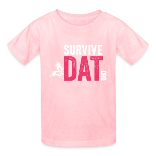 pink white box d logo png - Kids' T-Shirt