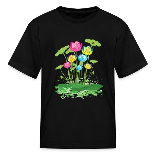 colorful waterlilies flowers - Kids' T-Shirt