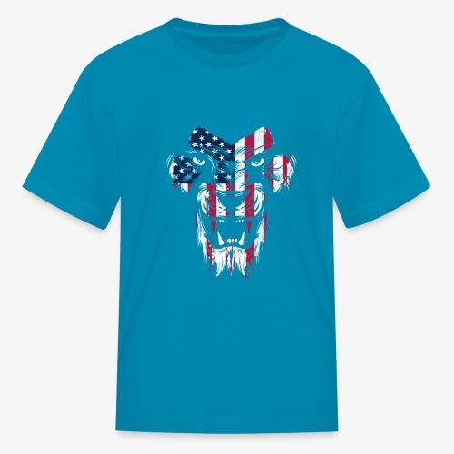 American Flag Lion - Kids' T-Shirt