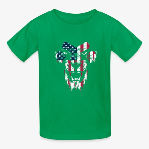 American Flag Lion - Kids' T-Shirt