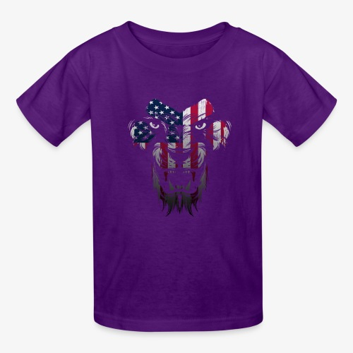 American Flag Lion Shirt - Kids' T-Shirt