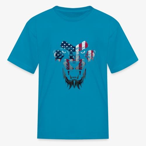 American Flag Lion Shirt - Kids' T-Shirt