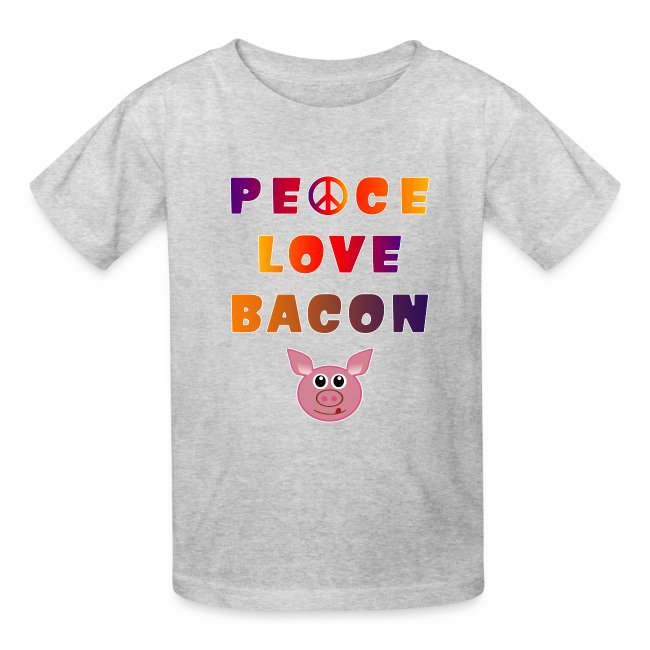 Peace Love Bacon Piggy Low Carb Food Lover Foodie.