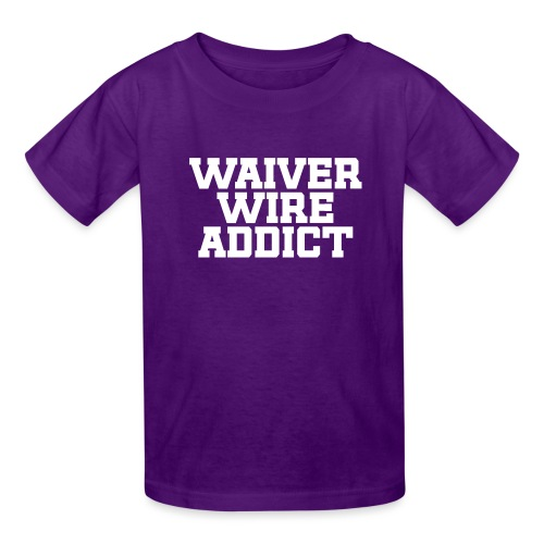 Waiver Wire Addict (Turquoise & Metallic Gold) - Kids' T-Shirt