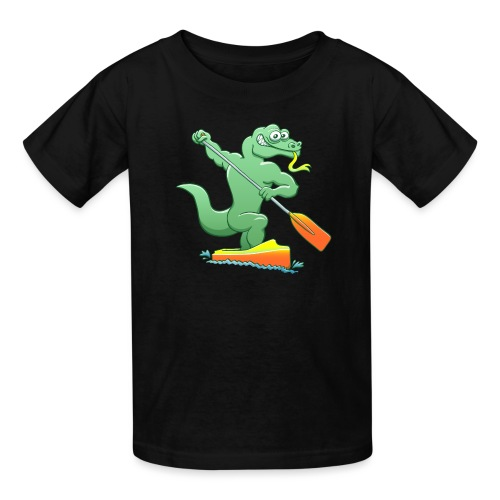 Water Monitor Competing in a Canoe Sprint Event - Kids' T-Shirt