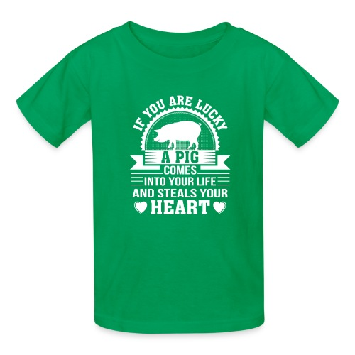Mini Pig Comes Your Life Steals Heart - Kids' T-Shirt