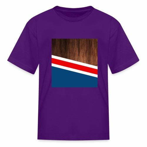 Wooden stripes - Kids' T-Shirt