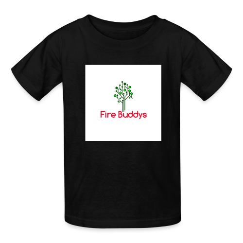 Fire Buddys Website Logo White Tee-shirt eco - Kids' T-Shirt