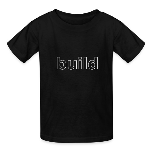 build logo (white for use on Dark Shirts) - Kids' T-Shirt