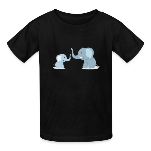 Father and Baby Son Elephant - Kids' T-Shirt